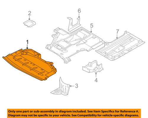 M5 00-03 ENGINE SPLASH SHIELD Under Cover Front