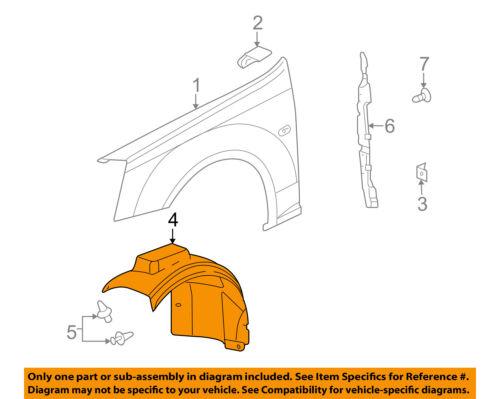 GM OEM-Front Fender Liner Inner Splash Shield Guard Right 15112758