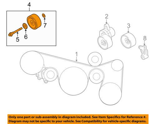 nissan oem 09 14 murano idler pulley 11925ja11a ebay rh ebay com 2001 nissan maxima idler pulley diagram