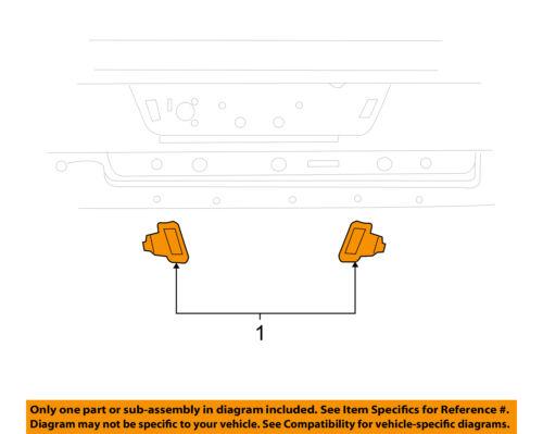 CHRYSLER OEM License Lamps-Rear Lamps-License Lamp Left 55078095AD