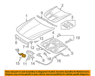 Pontiac GM OEM 99-05 Grand Am Hood-Lock Latch 22639847