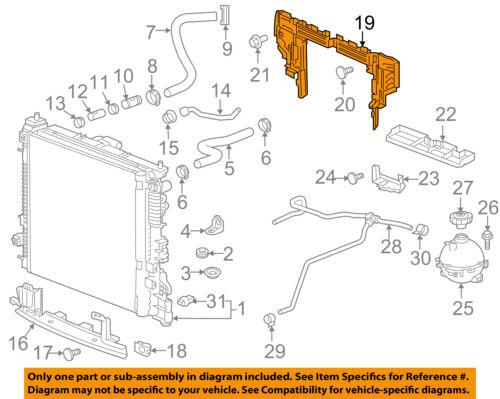 Details about GMC GM OEM 17-18 Acadia 3.6L-V6 Radiator-Upper Baffle on