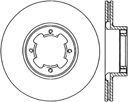 Disc Brake Rotor C Tek Standard Preferred Front Centric Fits 83 89