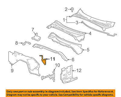 Chevrolet GM OEM 03-06 SSR Cowl-Dash Panel Brace Right 21999268