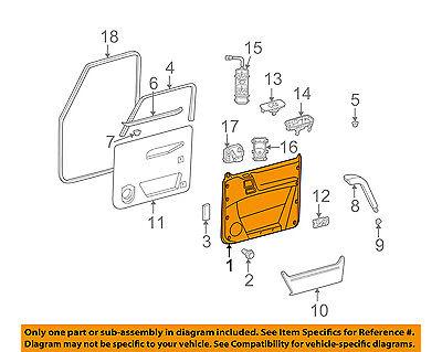 Mercedes MERCEDES-BENZ OEM Front Door-Interior Trim Panel Right 46372037709A84