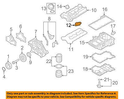 BMW OEM 08-18 X6 4.4L-V8 Engine-Valve Cover Seal 11128636401