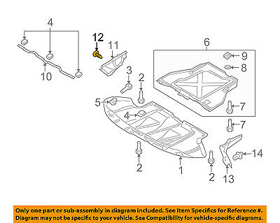 AUDI OEM 02-09 A4 Quattro Splash Shield-Side Cover Clip 82386320301C