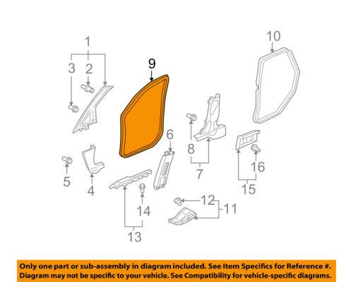 Genuine Honda 72355-TK6-A51 Door Seal