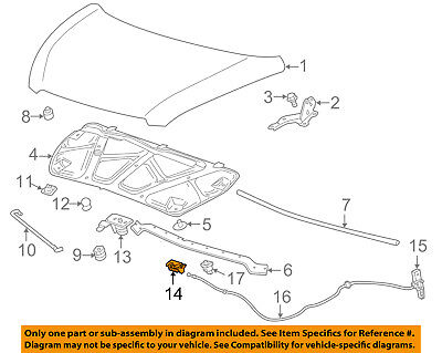 Chevrolet GM OEM 13-15 Spark Hood-Lock Latch 94534171