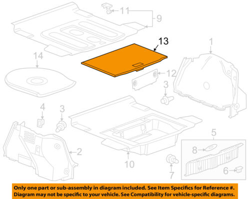 Details about Chevrolet GM OEM 11-15 Cruze Interior-Rear-Storage Cover on