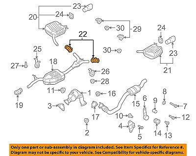 AUDI OEM 05-12 A4 Quattro 2.0L-L4 Exhaust-Pre-Muffler Resonator Clamp 1K0253141M