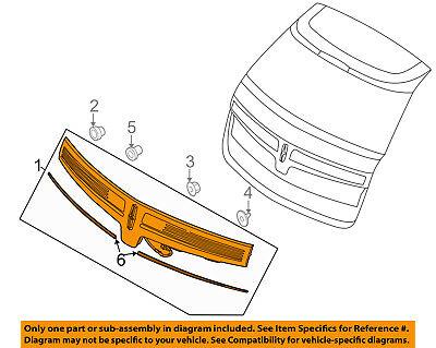 Lincoln FORD OEM 10-15 MKT Backup Light Back Up Lamp-Lamp Reflector DE9Z13A565B