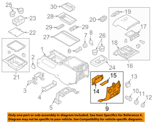 OEM NEW Rear Trim Center Console Flow Through Panel Super Duty BC3Z-28045E24-AB