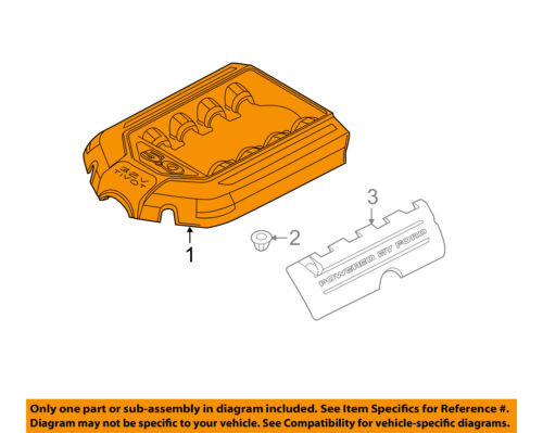 FORD OEM 11-18 Explorer Engine Appearance Cover-Engine Cover BB5Z6N041A