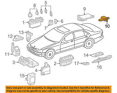 MERCEDES OEM ABS Anti-Lock Brake System-Lateral Acceleration Sensor 0125420417
