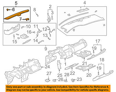 Cadillac GM OEM DeVille Dash Heater-Defroster Air Outlet Vent Grille 25718914
