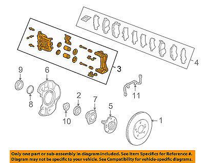 Acura HONDA OEM 97-01 NSX-Disc Brake Caliper Right 45018SL0J01