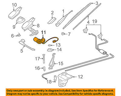 GENUINE MERCEDES-BENZ Windshield Glass Wiper Washer Electric Motor 202 820 23 08
