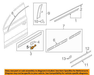 AUDI OEM 07-15 Q7 Front Door-Lower Molding Retainer 4L0853909A