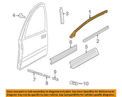 (Pontiac GM OEM 99-04 Grand Am Front Door-Seal Strip Left 22632177)