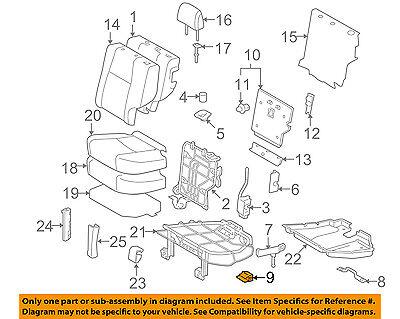 TOYOTA OEM 10-16 4Runner Second Row Back Rear Seat-Hinge Left 7130460010 Second Row Runner