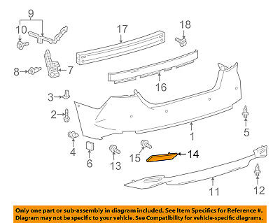 TOYOTA OEM 2018 Camry Rear Bumper-Extension Right 5216506030