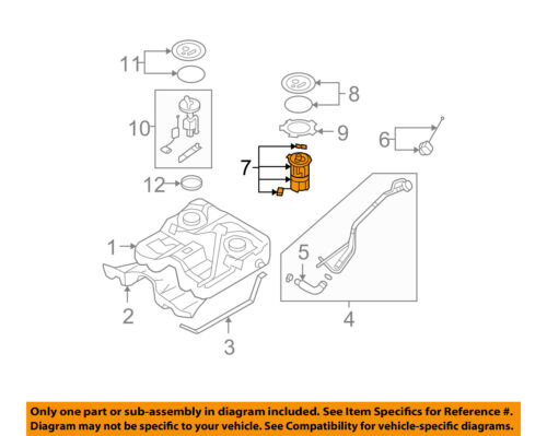 Hyundai Fuel Pump Diagram : Hyundai oem santa fe fuel pump w ebay