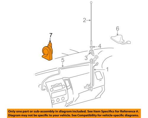 Super Toyota Oem 05 15 Tacoma Horn 8651004020 Ebay Wiring Digital Resources Sapredefiancerspsorg