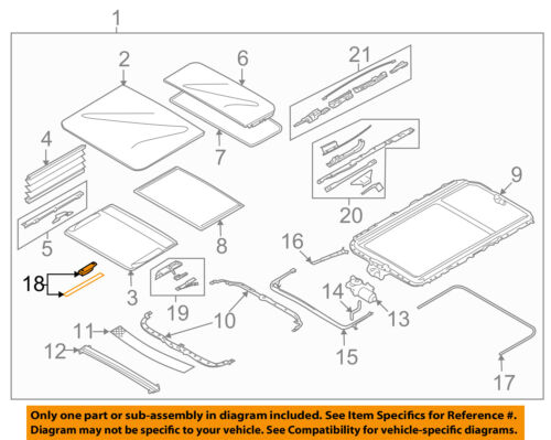 BMW OEM 05-18 X5 Sunroof-Slider 54137155683