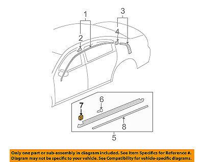 GM OEM Exterior-Rocker Molding Clip 15236894