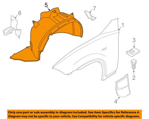 Passenger Side Splash Shield For 2004-2006 BMW X3 Front