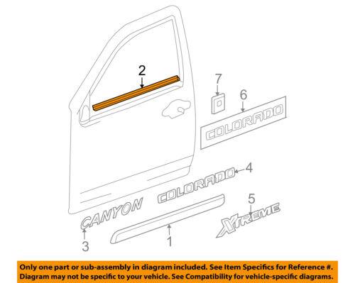 GM OEM Front Door Window Sweep-Belt Molding Weatherstrip Left 10363024