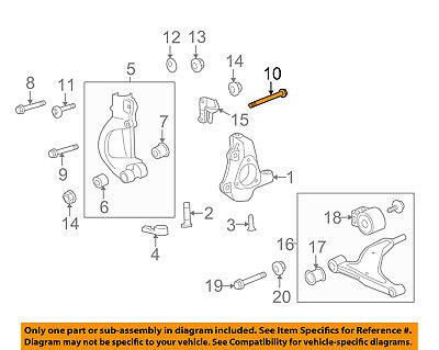 GM OEM Front Suspension-Yoke Bolt 13258478