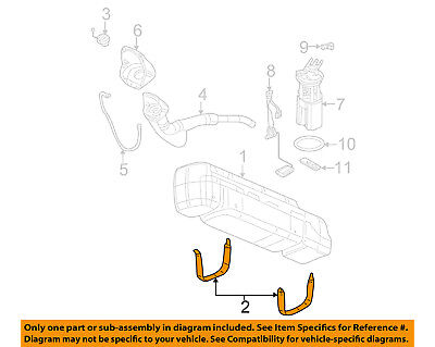 GM OEM Fuel Gas Tank Mount Strap 23126454