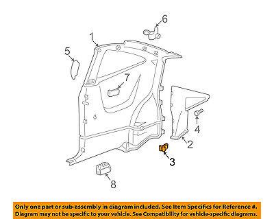 GM OEM INTERIOR-Upper Quarter Trim Clip 16662182