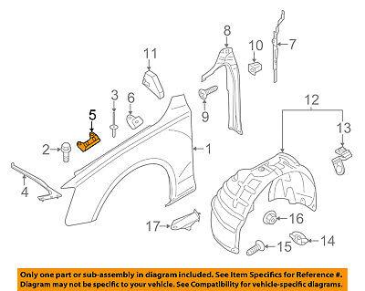 AUDI OEM 09-16 A4 Quattro Fender-Front Bracket Right 8K0821468B