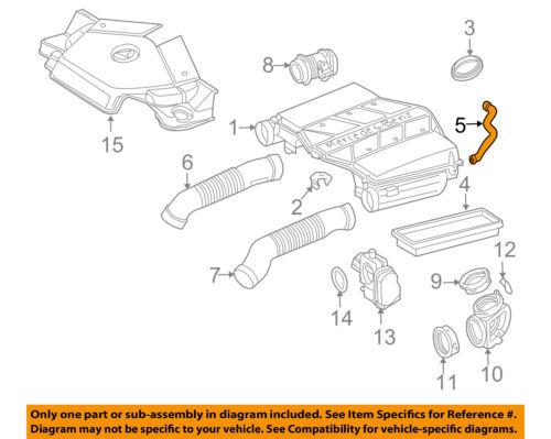 Mercedes MERCEDES-BENZ OEM E350 Air Cleaner Intake-Air Duct Tube Hose 2761400218