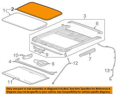 GM OEM-Sunroof Glass Seal 22815954