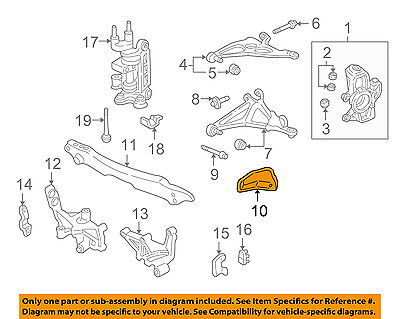 Acura HONDA OEM NSX Front Suspension-Lower Control Arm Plate Right 45258SL0020 Front Lower Suspension Plate
