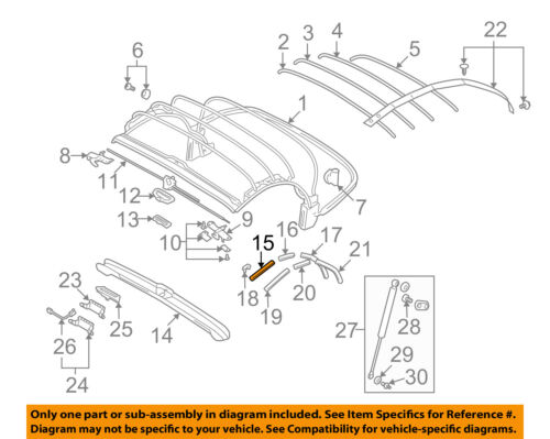 Audi Oem 0106 Tt Quattro Convertiblesoft Topchannel Left Rhebay: 2001 Audi Tt Parts Diagram At Gmaili.net