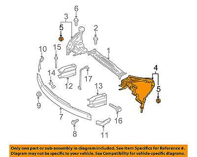 Mercedes MERCEDES-BENZ OEM Radiator Core Support-Mount Frame Left 2046200991