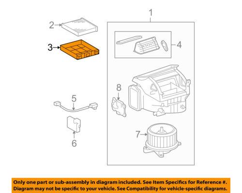 TOYOTA OEM Blower Motor Fan-Filter Housing 888993A080