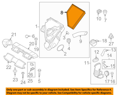 bmw oem 09 11 335d engine air cleaner filter element 13717797465 rh ebay com