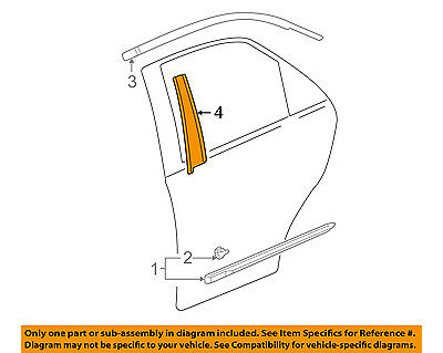 Acura HONDA OEM 01-06 MDX Exterior-Rear-Applique Window Trim Right 72930S3VA00ZA