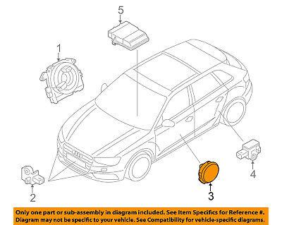 AUDI OEM 15 16 A3 Airbag Air Bag SRS Pressure Sensor 5Q0959354