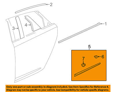Cadillac GM OEM 13-18 XTS REAR DOOR-Body Side Molding Right 22760480