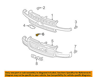 GM OEM-Grille Retainer Clip Nut Screw 15764320