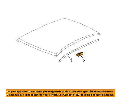 Chevrolet GM OEM 12-18 Sonic-Roof Molding Retainer 22757072