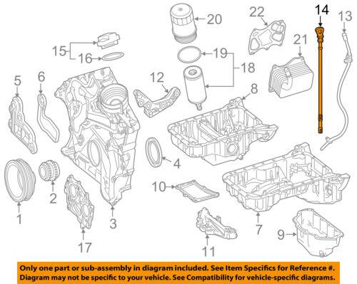 Mercedes MERCEDES-BENZ OEM 15-16 E400 3.0L Engine-Oil Fluid Dipstick 2760101772