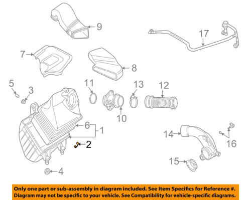 VW Volkswagen 32.5 mm Air Cleaner Assembly Clip Passat Touareg OEM NEW 078129797